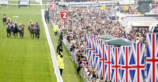 picture of a head on of the straight at epsom racecourse
