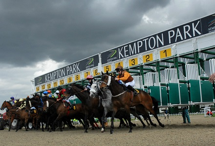kempton racecourse picture of horse racing stalls