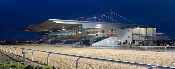 Dundalk racecourse image at night
