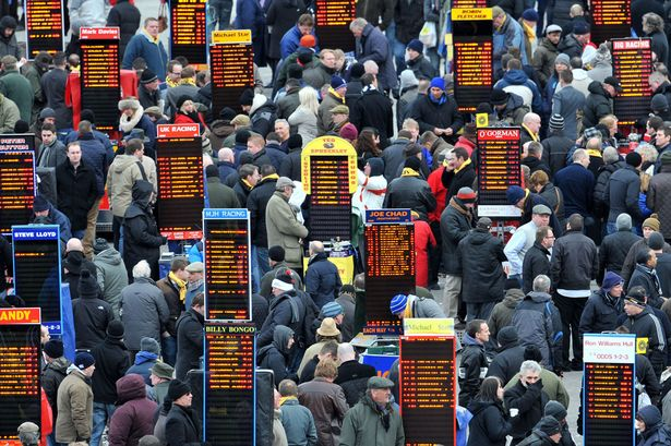 Horse Racing betting ring